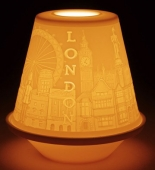LITHOPHANE VOTIVE LIGHT - LONDON