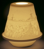 LITHOPH. VOTIVE LIGHT - TULIPS IN SPRING