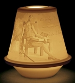LITHOPHANE VOTIVE LIGHT-QUIXOTE