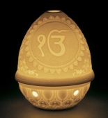LITHOPHANE VOTIVE LIGHT-IK ONKAR