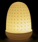 WICKER DOME LAMP